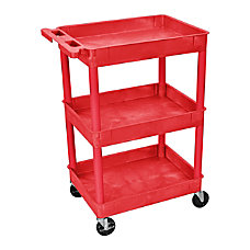Luxor 3 Shelf Tub Cart 36