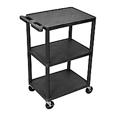 Luxor 3 Shelf Cart 41 H