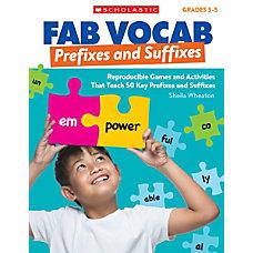 Scholastic Teacher Resources Fab Vocab Prefixes