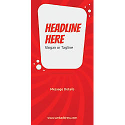 Custom Vertical Banner Red Spin Wave