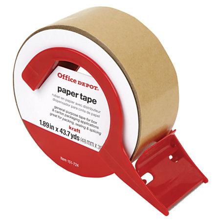 office depot brand paper tape x 43 7 yd kraft by office depot officemax. Black Bedroom Furniture Sets. Home Design Ideas