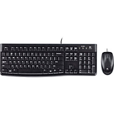 Logitech Wired Desktop Set MK120 Black