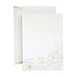 gartner studios invitation silver floral foil 25ct by office depot