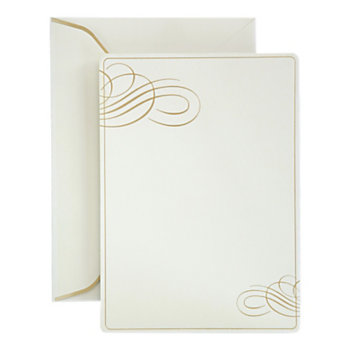 Gartner studios formal invitations and envelopes gold foil for Gartner labels templates
