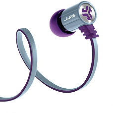 JLab Bass Rugged Earbuds PurpleGray