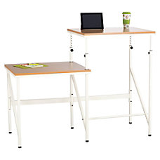 Safco Bi Level StandSit Desk Rectangle