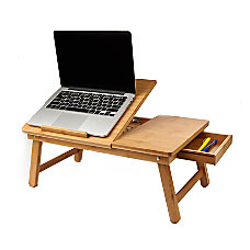 Mind Reader Bamboo Laptop Bed Tray