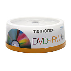 Memorex DVDRW Rewritable Media Spindle 47GB120