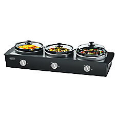 Nostalgia Electrics Triple Slow Cooker Buffet