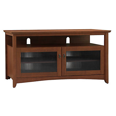 Bush furniture buena vista tv stand serene cherry standard for Furniture 7 day delivery