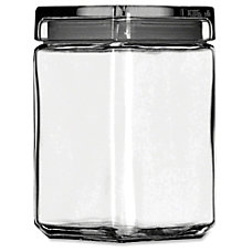 Office Settings Clear Glass Jar 15