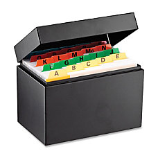 Steelmaster Card File Box External Dimensions