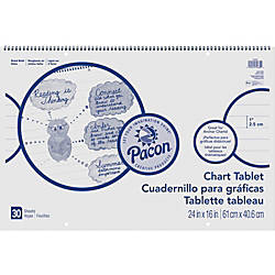 Pacon Ruled Chart Tablet 30 Sheets