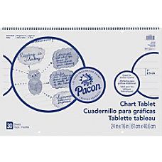 Pacon Ruled Chart Tablets 30 Sheets