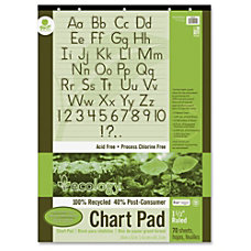 Pacon Ecology Handwriting Pad 70 Sheets
