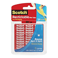 Scotch Restickable Adhesive Tabs 12 x