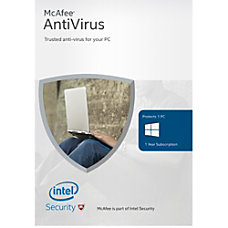 McAfee Antivirus Basic 2016 For 1