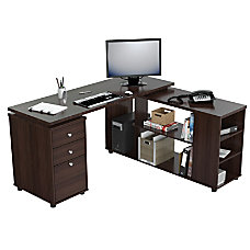 Inval L Shaped Computer Workstation 29