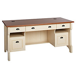 christopher lowell shore home executive desk 30 12 h x 65