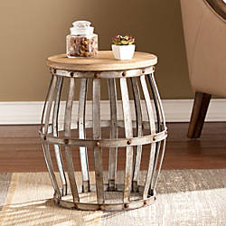 Southern Enterprises Mencino Accent Table Round