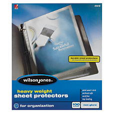 Wilson Jones Top Loading Sheet Protectors