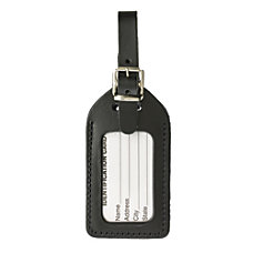 Lewis N Clark Leather Luggage Tag