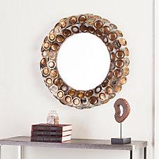 Southern Enterprises Jarva Round Decorative Mirror