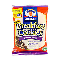 quaker breakfast cookies oatmeal raisin box of 50 by
