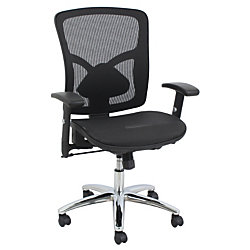 BarcaLounger Mesh Mid Back Task Chair BlackChrome By Office Depot Offic