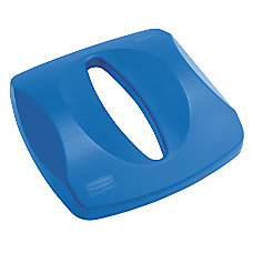 Rubbermaid Untouchable Paper Recycling Lid Blue