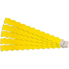 SICURIX Wavy Wristbands wAdhesive 100PK Yellow
