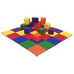 ECR4Kids Patchwork Mat Block Set Multicolor