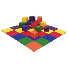 ECR4Kids Patchwork Mat Block Set Multicolor