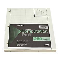 TOPS Engineers Computation Pad 8 12