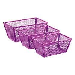 OfficeMax Purple Mesh Nesting Trays By Office Depot OfficeMax