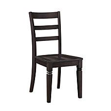 Whalen Furniture Kendal Wood Chair Gray