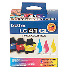 Brother LC41 Tricolor Ink Cartridges Pack