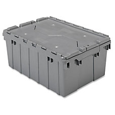 Akro Mils Attached Lid Storage Container