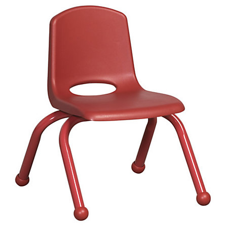 ECR4Kids School Stack Chairs 10 Seat Height Red Pack Of 6 By Office Depot Am