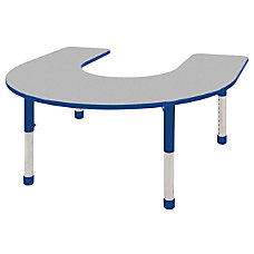 ECR4KIDS Adjustable Horseshoe Activity Table Chunky
