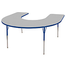 ECR4KIDS Adjustable Horseshoe Activity Table Standard