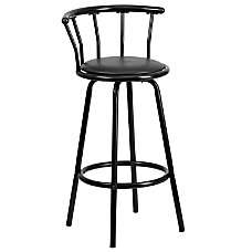 Flash Furniture Crown Back Barstool Black