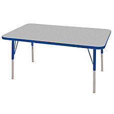 ECR4KIDS Adjustable Rectangle Activity Table Toddler