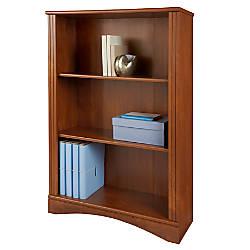 Realspace Dawson 3 Shelf Bookcase Brushed