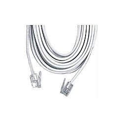 Ge Telephone Line Cord 50 White 26530 By Office Depot
