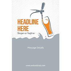 Custom Vertical Poster Beer Tap Glass
