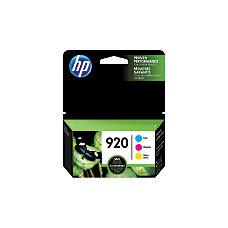 HP 920 CyanMagentaYellow Ink Cartridges N9H55FN140