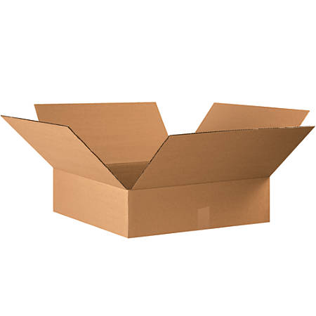 Office Depot Brand Flat Corrugated Boxes 5 H X 18 W X 18 D