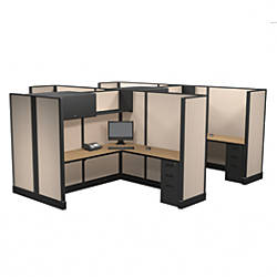 Cube Solutions Commercial Grade Full Height L Shaped ...