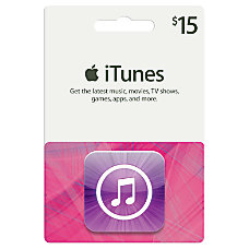 iTunes 15 Gift Card iTunes Icon
